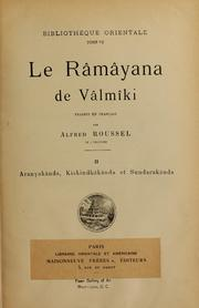 Le Râmâyana De Vâlmâki, Vol. Vol. 2 Volume Vol. vol. 2 by Valmiki