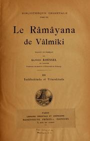 Le Râmâyana De Vâlmâki, Vol. V. 3 Volume Vol. v. 3 by Valmiki