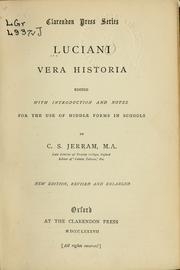 Vera Historia by Lucian, of Samosata