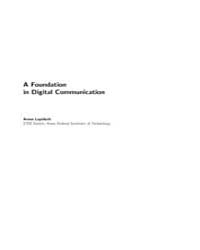 A Foundation in Digital Communication by Lapidoth, Amos