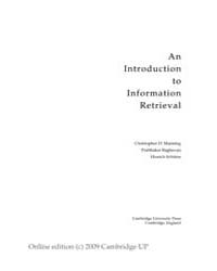Free Ebook: Introduction to Information ... by Manning, Christopher D.