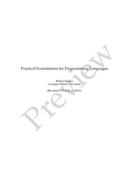 Practical Foundations for Programming La... by Harper Robert