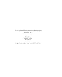 Principles of Programming Languages Vers... by Grant, Mike