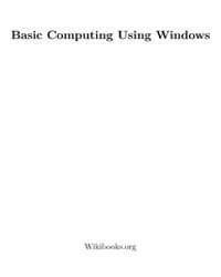 Basic Computing Using Windows by Wikibooks