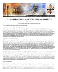 Magnae Nobis on Marriage Impediments and... by Papal Encyclicals