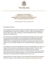Message to Participants in the Conferenc... by Papal Encyclicals