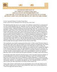 Letter of John Paul II to Cardinal Cardi... by Papal Encyclicals