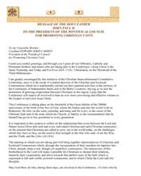 Message of the Holy Father John Paul II ... by Papal Encyclicals