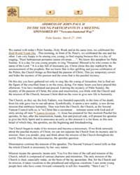 Address of John Paul II to the Young Par... by Papal Encyclicals