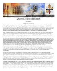 Apostolic Constitution Quo Primum Pope S... by Papal Encyclicals