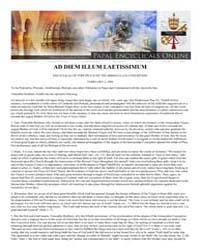Ad Diem Illum Laetissimum Encyclical of ... by Papal Encyclicals