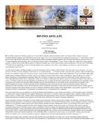 Divino Afflatu Ex Decreto SS. Concilii T... by Papal Encyclicals