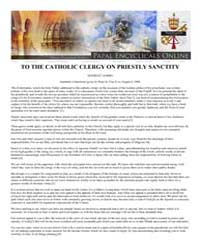 To the Catholic Clergy on Priestly Sanct... by Papal Encyclicals
