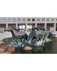 View of the Mustangs of Las Colinas Scul... by Highsmith, Carol M.