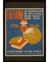 Freedom of Expression, of Religion, from... by Federal Art Project