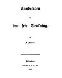 Aandetroen Og Den Frie Tænkning by Dreier, Frederik