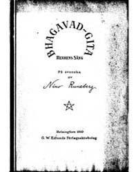 Bhagavad-gita Herrens Sång På Svenska Af... by Project Runeberg
