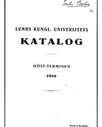 Lunds Kungl, Universitets Katalog, Ht191... by Project Runeberg