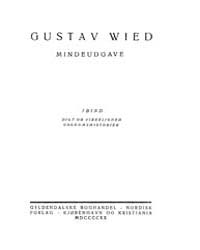 Mindeudgave, Part 1 by Wied, Gustav
