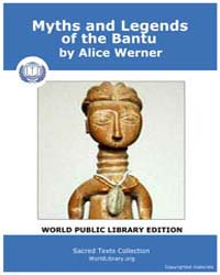 Myths and Legends of the Bantu by Werner, Alice