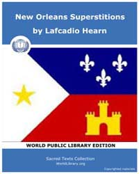 New Orleans Superstitions Volume II by Hearn, Lafcadio