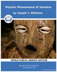 Psychic Phenomena of Jamaica, Score Afr ... by Williams, Joseph, J.