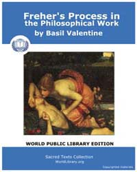 Freher's Process in the Philosophical Wo... by Valentine, Basil
