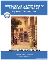 Hortulanus Commentary on the Emerald Tab... by Valentine, Basil