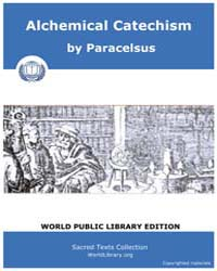 Alchemical Catechism, Score Alc Tschoudy by Paracelsus
