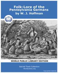 Folk-lore of the Pennsylvania Germans by Hoffman, W. J.