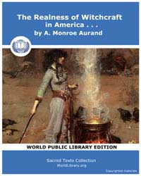 The Realness of Witchcraft in America by Aurand, A., Menroe