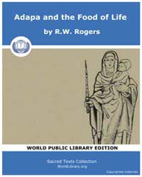 Adapa and the Food of Life, Score Ane Ad... by Rogers, R.W.