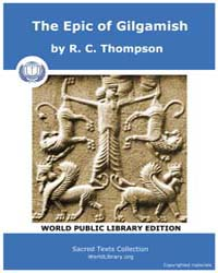 The Epic of Gilgamish by Thompson, R. C.
