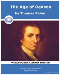 Sacred Text : the Age of Reason Volume IV by Paine, Thomas