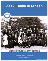 Sacred Text : Abdu'L-baha in London by Sacred Text