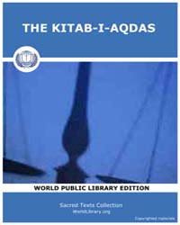 The Kitab-i-aqdas by Classic Sacred Texts