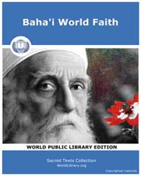 Baha'I World Faith, Score Bhi Bwf by Sacred Texts
