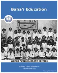 Baha'I Education, Score Bhi Edu by Sacred Texts