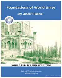 Foundations of World Unity, Score Bhi Fw... by Abdu'L-baha