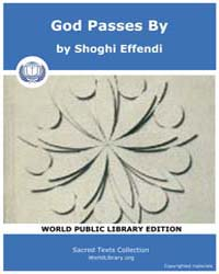 Sacred Text : God Passes by by Effendi, Shoghi