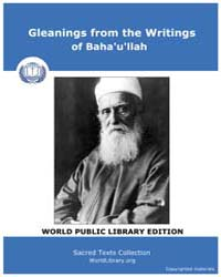 Gleanings from the Writings of Baha'U'Ll... by Classic Sacred Texts
