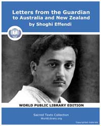 Letters from the Guardian to Australia a... by Effendi, Shoghi