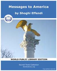 Messages to America, Score Bhi Ma by Effendi, Shoghi