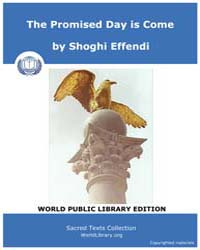 Sacred Text : the Promised Day is Come by Effendi, Shoghi