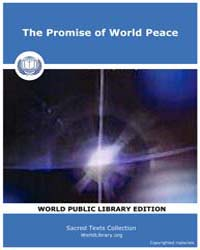 The Promise of World Peace by Classic Sacred Texts