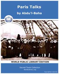 Paris Talks, Score Bhi Pt by Abdu'L-baha