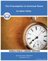 The Promulgation of Universal Peace, Sco... by Abdu'L-baha