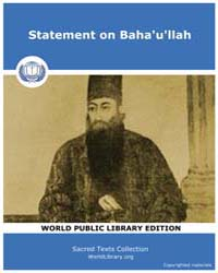 Statement on Baha'U'Llah, Score Bhi Sb by Sacred Texts