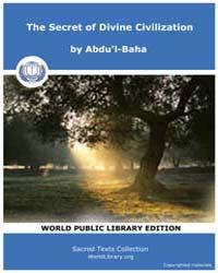 The Secret of Divine Civilization by Abdu'L-baha