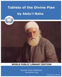 Tablets of the Divine Plan, Score Bhi Td... by Abdu'L-baha